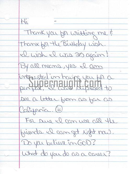 Dena Riley Signed Letter