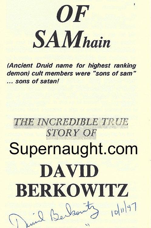 David Berkowitz Autograph