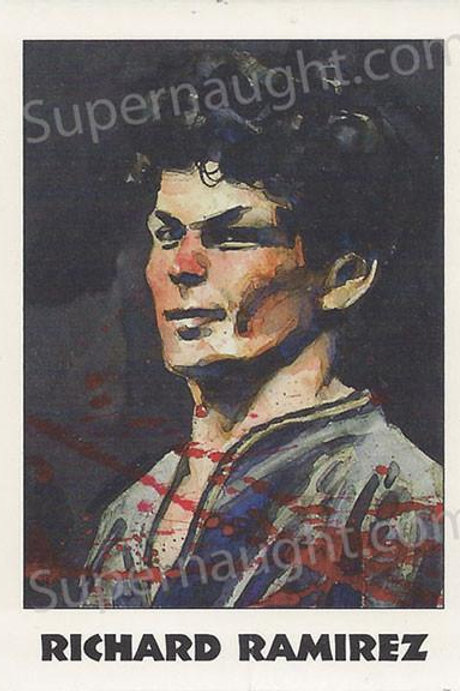Richard Ramirez Serial Killer Trading Card Signed in Blood Red