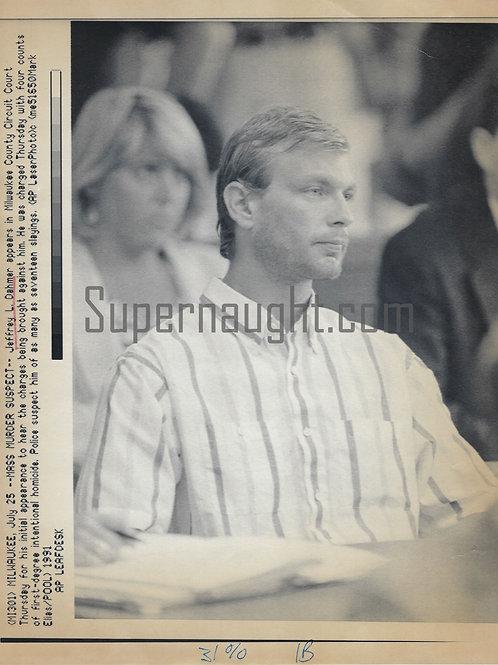 Jeffrey Dahmer Mass Murder Suspect In Court Press Photo