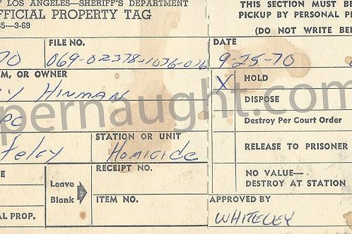gary hinman 1970 evidence