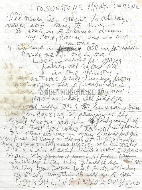 Charles Manson Signed Always Is Always Forever Lyrics