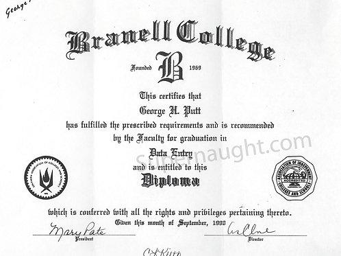 George howard putt diploma