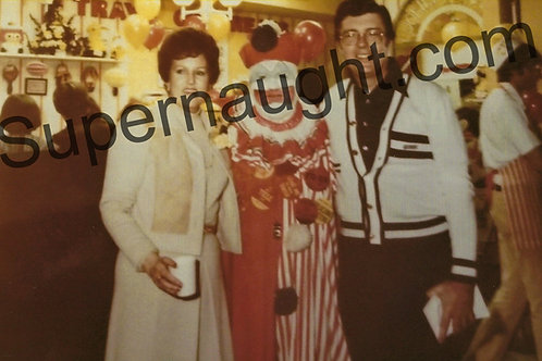 John Wayne Gacy Pogo the Clown 1970s Party Photo