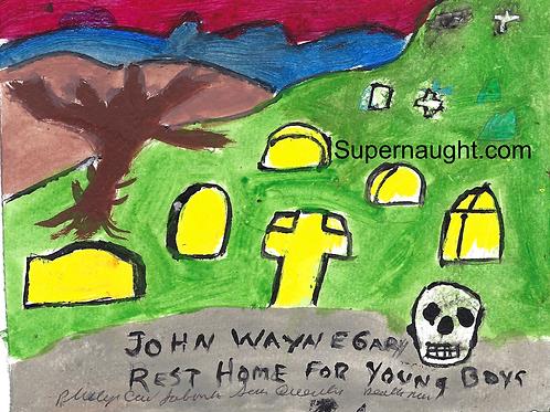 John Wayne Gacy cemetery painting