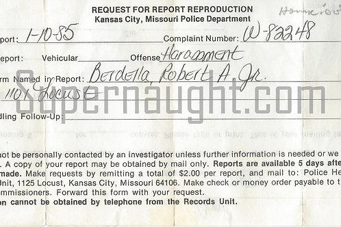 Robert Berdella police complaint
