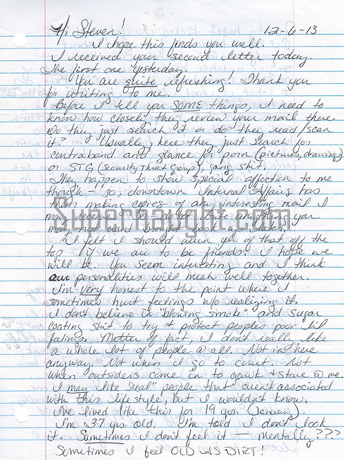 Christa Pike Letter