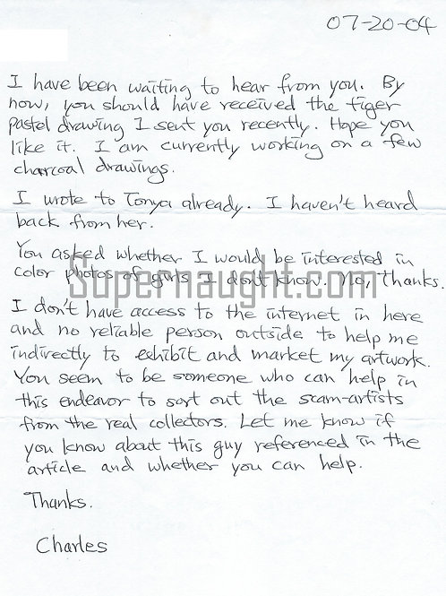 Charles Ng letter
