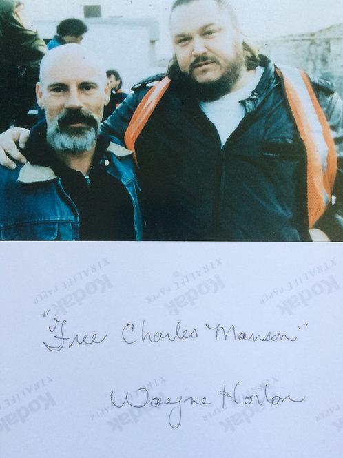 Wayne Horton Signed Photo Deceased