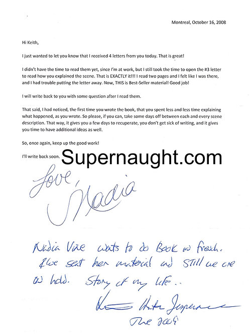 Keith Jesperson signed letter
