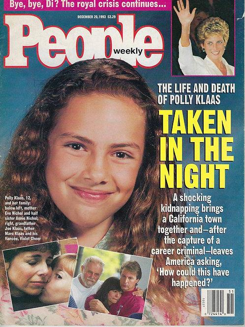 People Magazine Weekly December 1993 Polly Klaas Richard Allen Davis