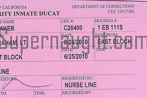 Lawrence Bittaker Priority Inmate Ducat
