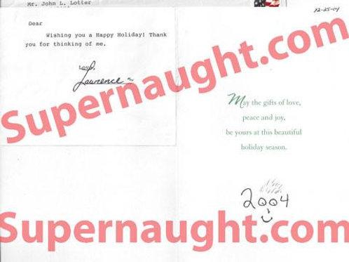 John Lotter Signed Christmas Card and Envelope Set