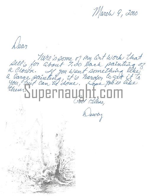 Dewey Moore letter