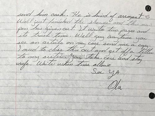 Oba Chandler letter