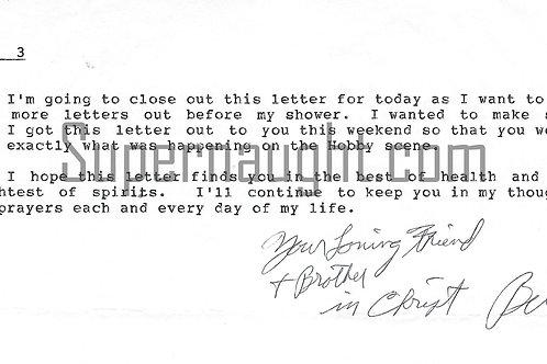 Bill Bonin letter