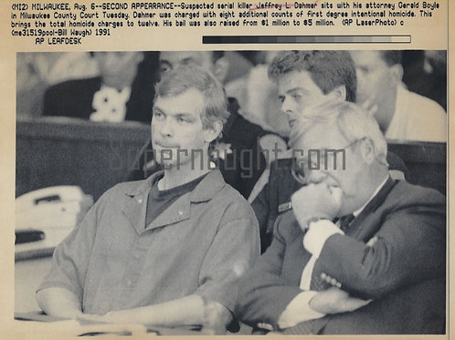 Jeffrey Dahmer Second Appearance Press Photo
