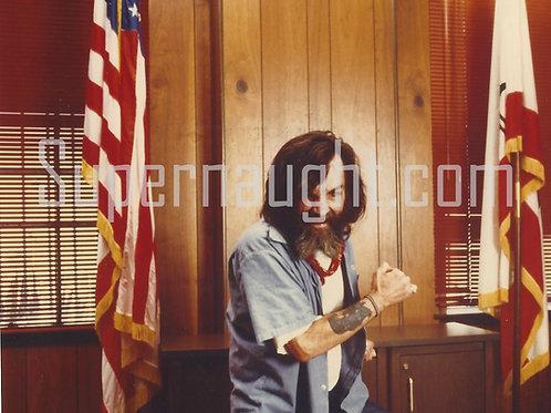 Charles Manson action photo