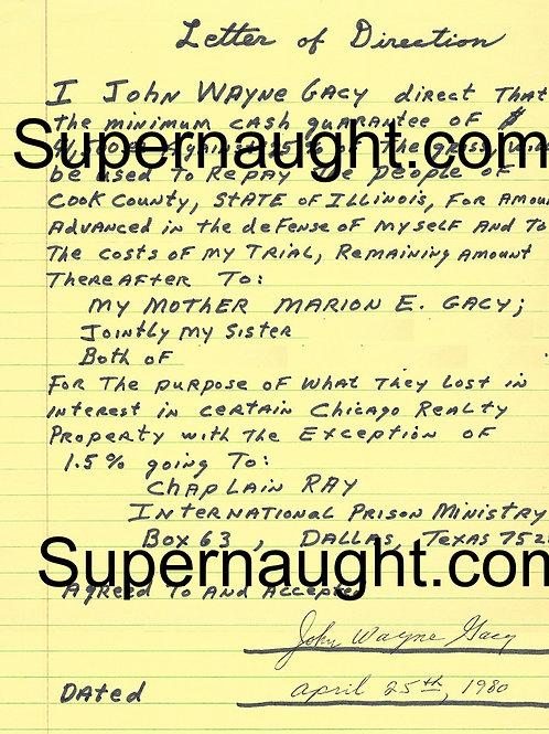 John Wayne Gacy document
