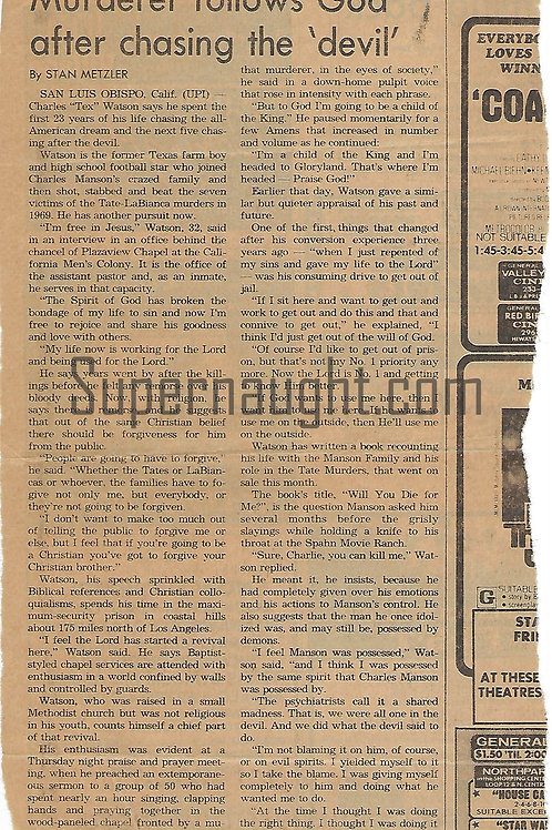 Tex Watson newspaper