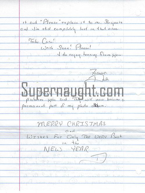 Dale Finch letter