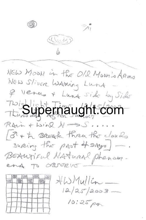Herbert Mullin Signed Drawing Writings