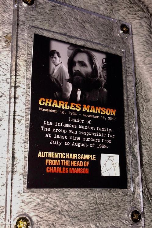Charles Manson Hair Collector Card