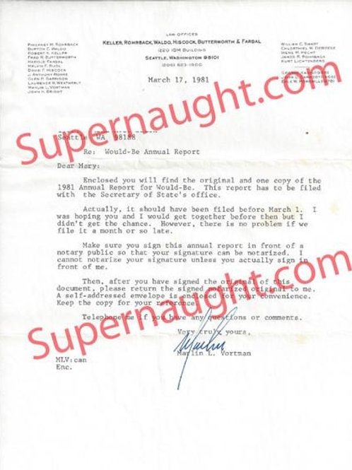 Ted Bundy Attorney Letter