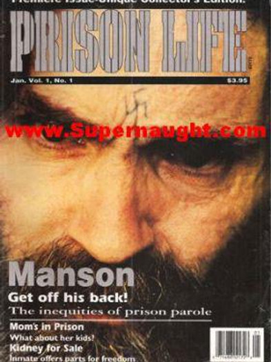 Prison Life Charles Manson Cover Premiere Issue