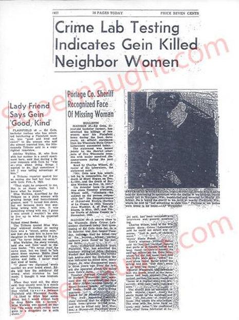 Edward Gein Psych report