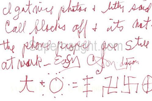 Charles Manson authentic signature