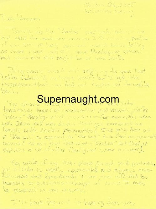 Joseph Duncan Letter With Signed Envelope