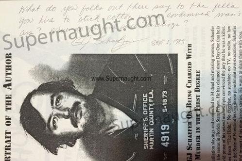 gerard Schaefer killer fiction signed