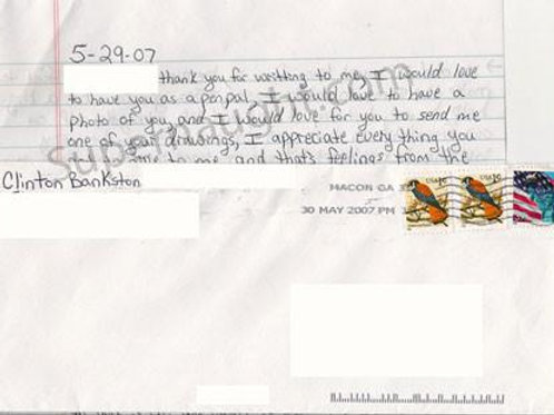 Clinton Bankston Letter and Signed Envelope