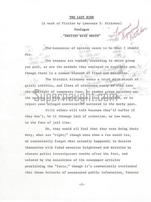 Lawrence Bittaker manuscript