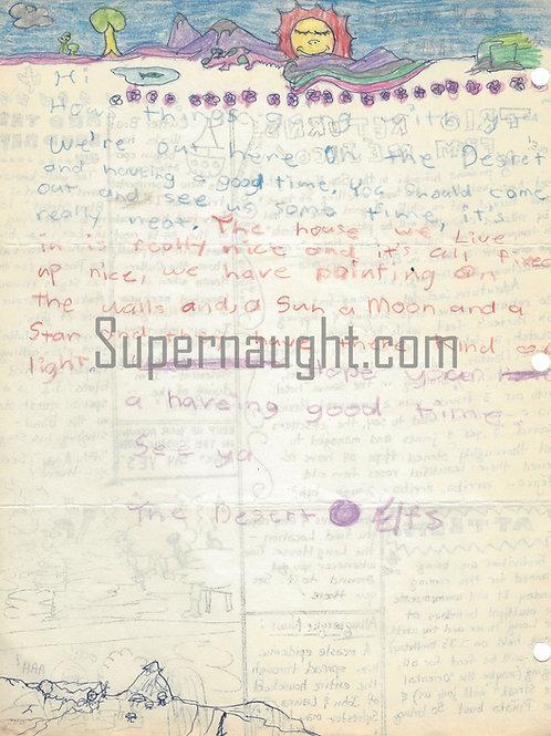 Manson Family The Desert Elfs 1970s Letter Signed