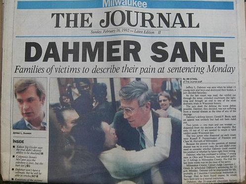 Jeffrey Dahmer newspaper