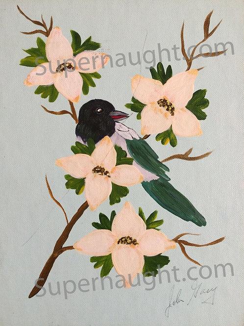 John Wayne Gacy Magpie Painting Signed Twice