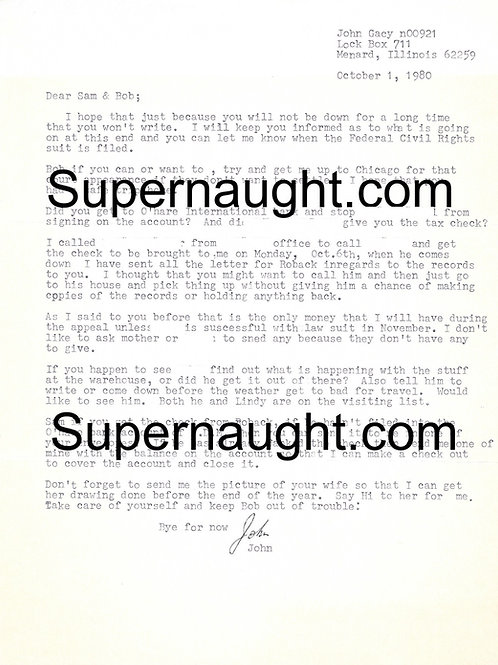 Gacy letters