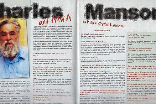 Nug Magazine Charles Manson Article June 2011 NEW