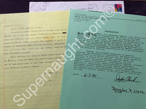 Douglas Clark Carol Bundy letters