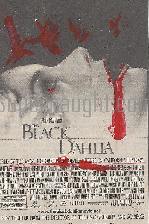 Charles Manson Autographed Black Dahlia Postcard