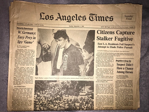 Richard Ramirez Los Angeles Times 1985