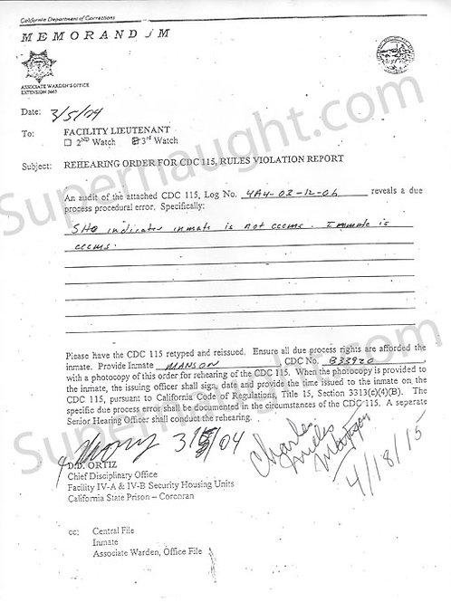 Charles Manson document