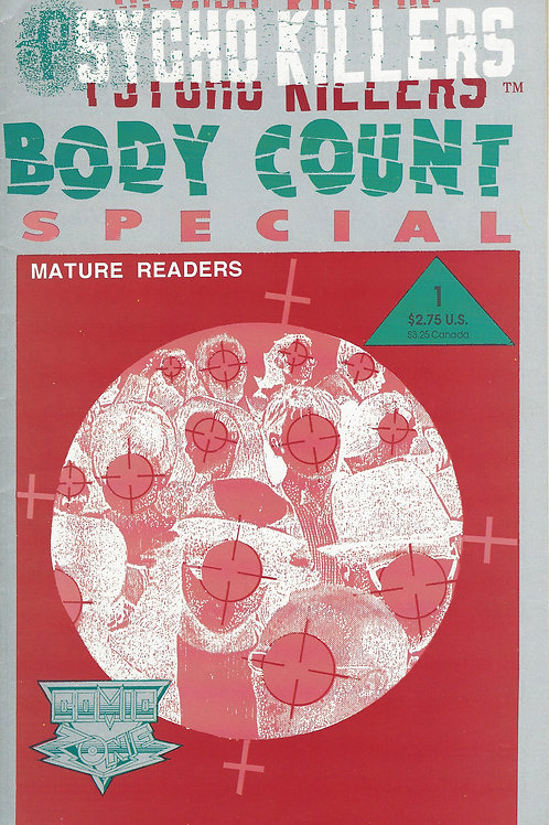 Psycho Killers Body Count Comic Book 1992 Volume 1