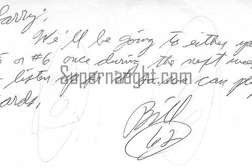 Bill Bonin signed