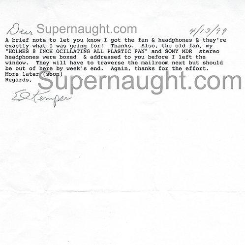 Edmund Kemper signed