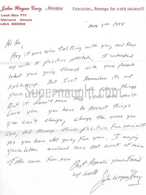 John Wayne Gacy letter