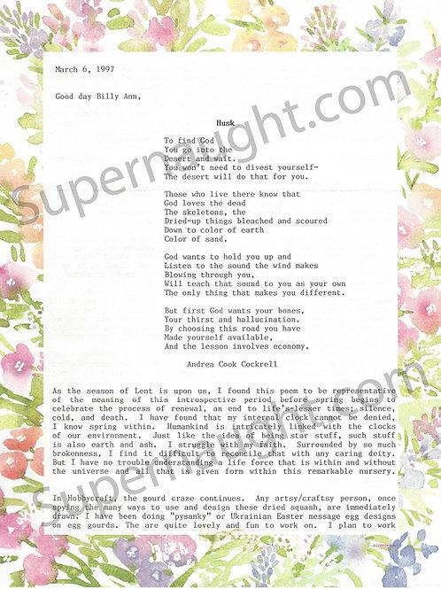Patricia Krenwinkel letter