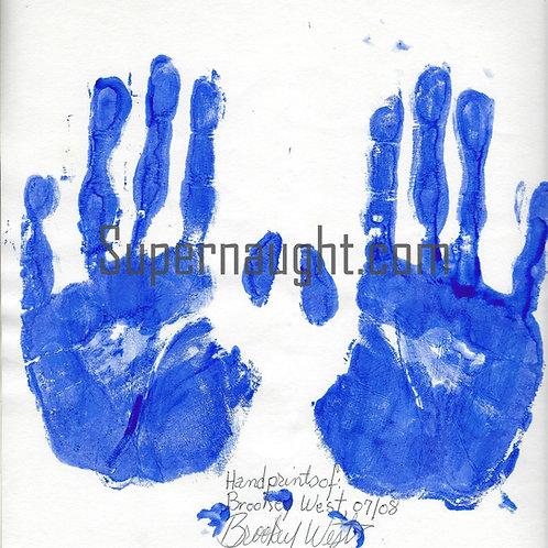 Brookey West Signed Handprints